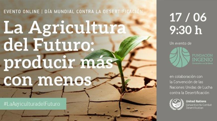 cartel evento online día mundial contra desertificación